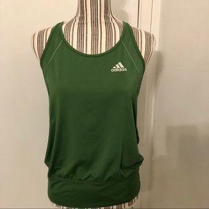 Adidas green yoga workout tank top size S